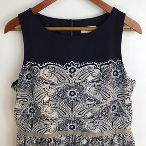 LOFT Outlet Fully Lined, Sleeveless Dress w/Zipper